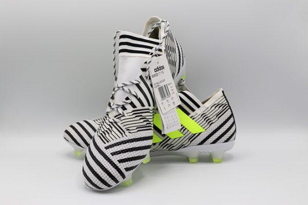 Ghete fotbal Adidas Nemeziz 17.1 FG alb